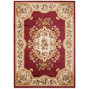 "Nourison Paramount 7'10"" x 10'6"" Red Rectangle Rug"