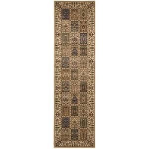 """Nourison PERSIAN ARTS 2'3"""" X 8' Beige Rug"""
