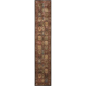 "Nourison PERSIAN ARTS 2'3"" X 12' Multicolor Rug"