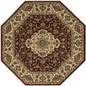"Nourison PERSIAN ARTS 5'3"" X 5'3"" Brick Rug - Item Number: BD02 BRK 53X53"