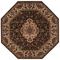 """Nourison PERSIAN ARTS 5'3"""" X 5'3"""" Chocolate Rug - Item Number: BD02 CHO 53X53"""