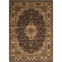 """Nourison PERSIAN ARTS 5'3"""" X 7'5"""" Chocolate Rug - Item Number: BD02 CHO 53X75"""