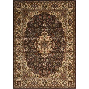 "Nourison PERSIAN ARTS 9'6"" X 13' Chocolate Rug"