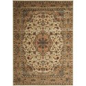 "Nourison PERSIAN ARTS 2' X 3'6"" Ivory/Gold Rug - Item Number: BD02 IGD 2X36"
