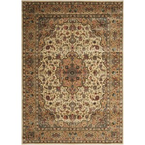 "Nourison PERSIAN ARTS 7'9"" X 10'10"" Ivory/Gold Rug"
