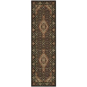 "Nourison PERSIAN ARTS 2'3"" X 8' Black Rug"