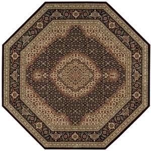 "Nourison PERSIAN ARTS 7'9"" X 7'9"" Black Rug"