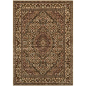 "Nourison PERSIAN ARTS 3'6"" X 5'6"" Ivory Rug"