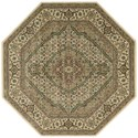 "Nourison PERSIAN ARTS 5'3"" X 5'3"" Ivory Rug - Item Number: BD03 IV 53X53"
