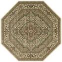 "Nourison PERSIAN ARTS 7'9"" X 7'9"" Ivory Rug - Item Number: BD03 IV 79X79"