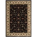 "Nourison PERSIAN ARTS 3'6"" X 5'6"" Black Rug - Item Number: BD04 BLK 36X56"