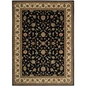 "Nourison PERSIAN ARTS 7'9"" X 10'10"" Black Rug - Item Number: BD04 BLK 79X1010"