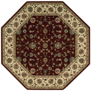 "Nourison PERSIAN ARTS 5'3"" X 5'3"" Brick Rug"