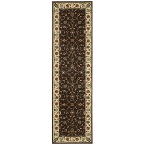 "Nourison PERSIAN ARTS 2'3"" X 8' Chocolate Rug"