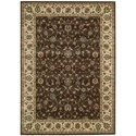 """Nourison PERSIAN ARTS 5'3"""" X 7'5"""" Chocolate Rug - Item Number: BD04 CHO 53X75"""