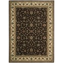 """Nourison PERSIAN ARTS 7'9"""" X 10'10"""" Chocolate Rug - Item Number: BD04 CHO 79X1010"""