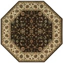 """Nourison PERSIAN ARTS 7'9"""" X 7'9"""" Chocolate Rug - Item Number: BD04 CHO 79X79"""