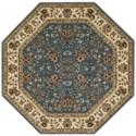 "Nourison PERSIAN ARTS 5'3"" X 5'3"" Light Blue Rug - Item Number: BD05 LTB 53X53"