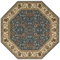 "Nourison PERSIAN ARTS 7'9"" X 7'9"" Light Blue Rug - Item Number: BD05 LTB 79X79"