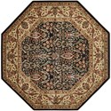 "Nourison PERSIAN ARTS 5'3"" X 5'3"" Black Rug - Item Number: BD08 BLK 53X53"
