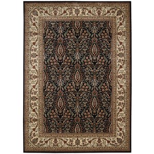 "Nourison PERSIAN ARTS 7'9"" X 10'10"" Black Rug"