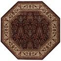 "Nourison PERSIAN ARTS 7'9"" X 7'9"" Burgundy Rug - Item Number: BD08 BUR 79X79"