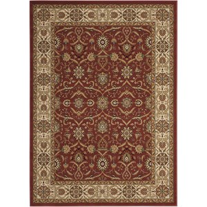 "Nourison Persian Crown 9'3"" x 12'9"" Brick Rectangle Rug"