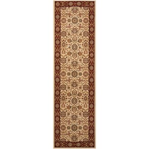"Nourison Persian Crown 2'2"" x 7'6"" Cream Runner Rug"
