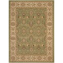 """Nourison Persian Crown 3'9"""" x 5'9"""" Green Rectangle Rug - Item Number: PC001 GREEN 39X59"""