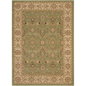 "Nourison Persian Crown 5'3"" x 7'4"" Green Rectangle Rug"