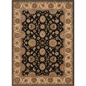 "Nourison Persian Crown 7'10"" x 10'6"" Black Rectangle Rug - Item Number: PC002 BLACK 710X106"