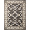 "Nourison Persian Crown 7'10"" x 10'6"" Charcoal/Ivory Rectangle Rug - Item Number: PC002 CHAIV 710X106"