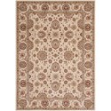 """Nourison Persian Crown 3'9"""" x 5'9"""" Ivory Rectangle Rug - Item Number: PC002 IV 39X59"""