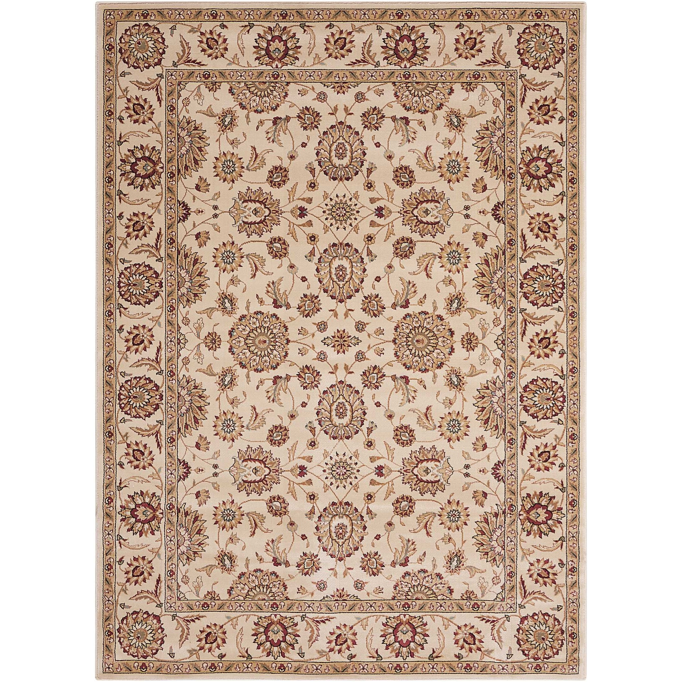 "5'3"" x 7'4"" Ivory Rectangle Rug"