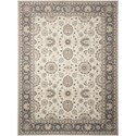 """Nourison Persian Crown 9'3"""" x 12'9"""" Iv/Grey Rectangle Rug - Item Number: PC002 IVGRY 93X129"""