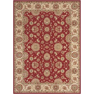 "Nourison Persian Crown 3'9"" x 5'9"" Red Rectangle Rug"