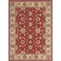 """Nourison Persian Crown 9'3"""" x 12'9"""" Red Rectangle Rug - Item Number: PC002 RED 93X129"""