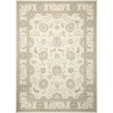 "Nourison Persian Empire 3'6"" x 5'6"" Bone Rectangle Rug - Item Number: PE22 BONE 36X56"