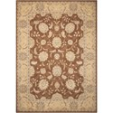 "Nourison Persian Empire 3'6"" x 5'6"" Chocolate Rectangle Rug - Item Number: PE22 CHO 36X56"