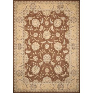 "Nourison Persian Empire 5'3"" x 7'5"" Chocolate Rectangle Rug"