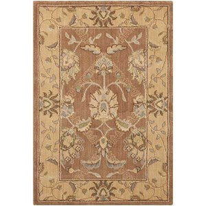 "Nourison Persian Empire 2' x 2'9"" Mocha Rectangle Rug"