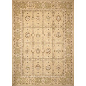 "Nourison Persian Empire 9'6"" x 13' Sand Rectangle Rug"