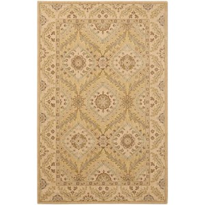 "Nourison Persian Empire 3'6"" x 5'6"" Light Gold Rectangle Rug"