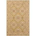 "Nourison Persian Empire 5'3"" x 7'5"" Light Gold Rectangle Rug - Item Number: PE24 LGD 53X75"