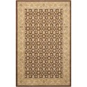 "Nourison Persian Empire 9'6"" x 13' Chocolate Rectangle Rug - Item Number: PE26 CHO 96X13"