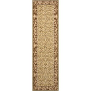 "Nourison Persian Empire 2'3"" x 8' Green Runner Rug"