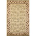 """Nourison Persian Empire 3'6"""" x 5'6"""" Green Rectangle Rug - Item Number: PE26 GRE 36X56"""