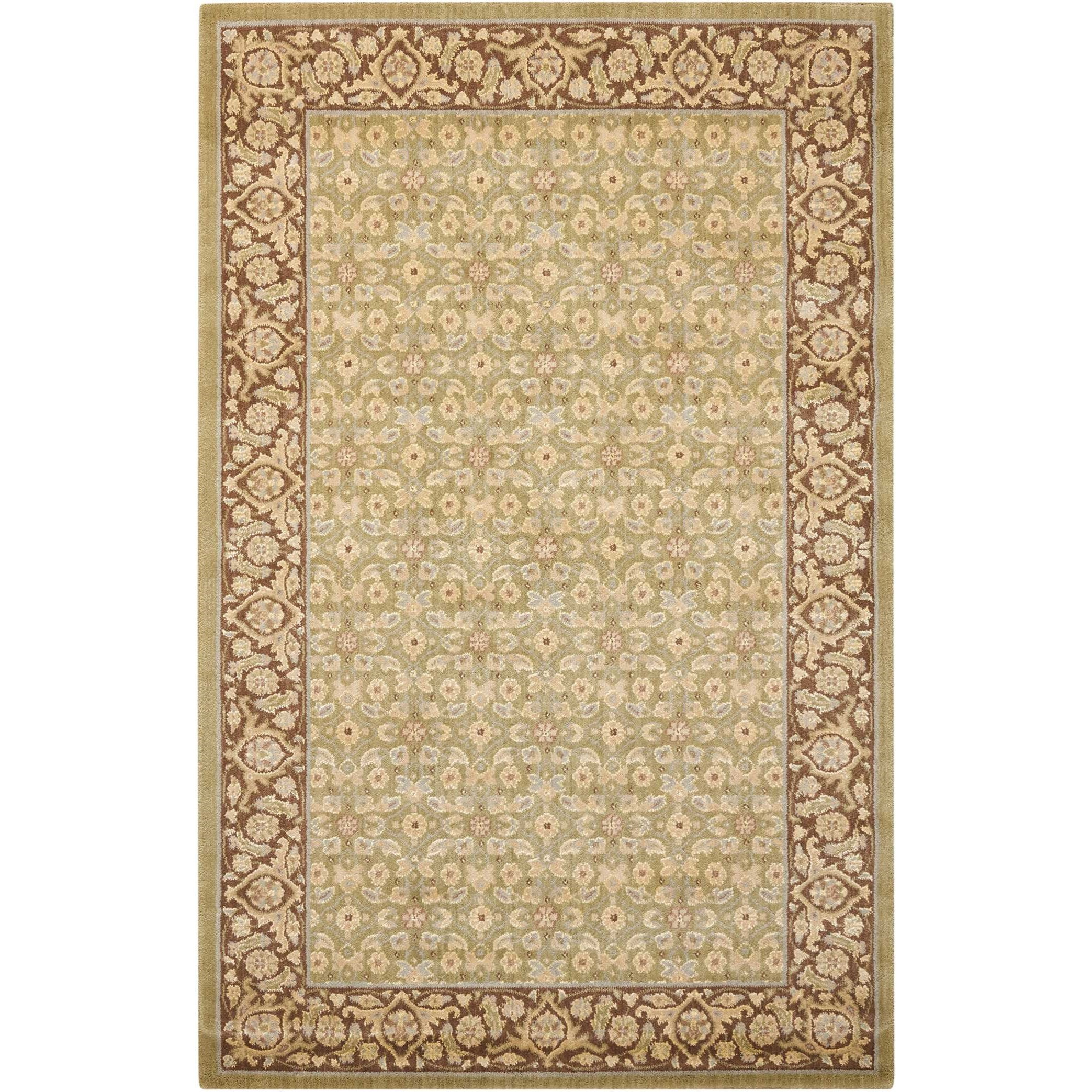 "Nourison Persian Empire 9'6"" x 13' Green Rectangle Rug - Item Number: PE26 GRE 96X13"