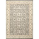 """Nourison Persian Empire 5'3"""" x 7'5"""" Silver Rectangle Rug - Item Number: PE26 SIL 53X75"""