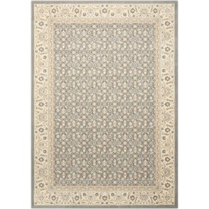 "Nourison Persian Empire 9'6"" x 13' Silver Rectangle Rug"